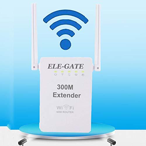 XGLL WLAN Router, WiFi Range Extender 300 Mbps 2,4 Ghz Mit Dual-Antenne WiFi Signal Verstaerker WLAN Repeater