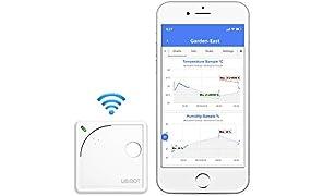 UbiBot, dispositivo con termometro wireless con WiFi, controllo di temperatura a distanza, umidità, con monitor luminoso, sensore ambientale, notifiche di app per dispositivi mobili