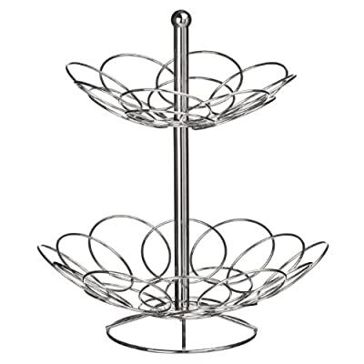 Premier Housewares Round Fruit Bowl - Chrome