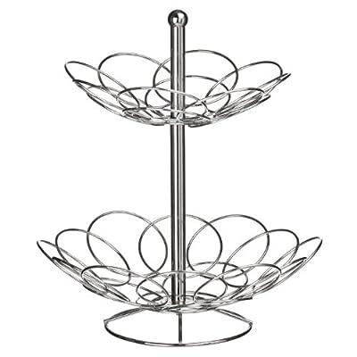 Premier Housewares Round Fruit Bowl - Chrome