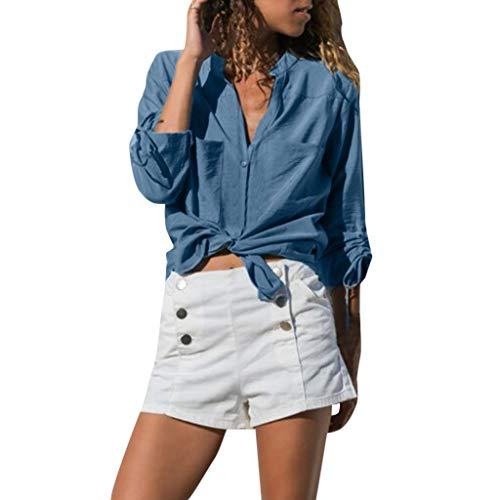 Momoxi Frauen Chiffon Mode festes T-Shirt Weisefrauen Damen-einfaches kurzes Hülsen-Blusen-Oberseite Sleeve Blouse Top Grau 2XL