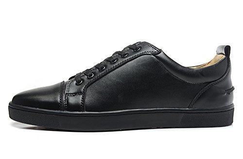 saman-chaussures-unisexe-louis-junior-orlato-lowtop-en-cuir-noir-lacets-plats-pour-sneakers-homme-no