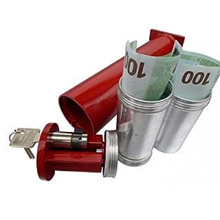 FORMAT Rohrtresor R2 - für Geldbomben - 240mm Tiefe - 70mm Durchmesser - 0,4 Liter Volumen - inkl. 2 Geldbomben