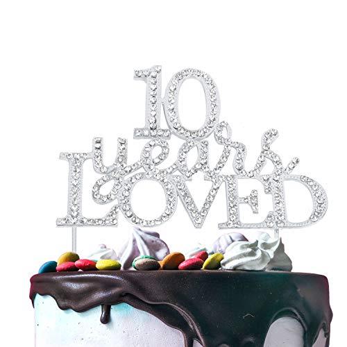 hre geliebt, für 10 Jahre Geburtstag oder 10. Hochzeit, Party-Dekoration 55 silber ()