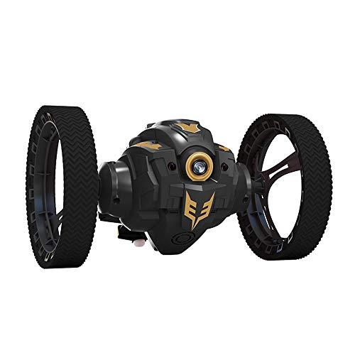 Cepko RC Auto mit Kamera, 2,4GHZ Drahtlose RC Ferngesteuertes Jumping Auto mit Led-licht und 360 Grad-umdrehung Musik Spielen Funktion Stoßfest Wiederaufladbare RC Auto für Kinder Geschenk