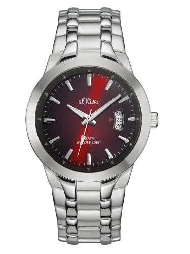 s.Oliver Herren-Armbanduhr XL Analog Quarz Edelstahl SO-2824-MQ
