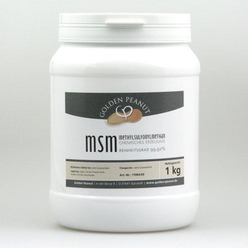 MSM Methylsulfonylmethan Pulver, Reinheitsgrad 99,92{cf2b6c2b2ff93adee838b49b7c1e980d256176d83f1b23e3ec3798658e1cb764} 1 kg Dose