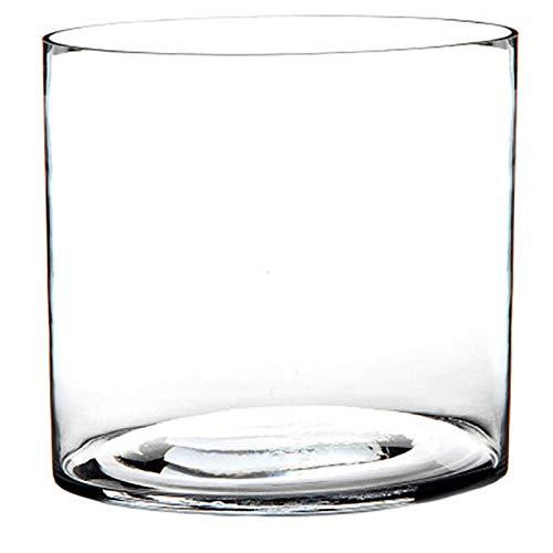 Jarrón Cilindrico de Cristal Transparente