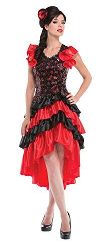 Bristol Novelty AC228 Spanische Dame, Rot, schwarz, Size 10-14
