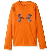 Under Armour Chicos 'Big Logo Camiseta de Manga Larga, Niños, Big Logo T, Magma Orange