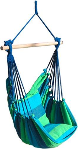 s`home Tobago / Hängesessel mit 2 Kissen / blau, grün