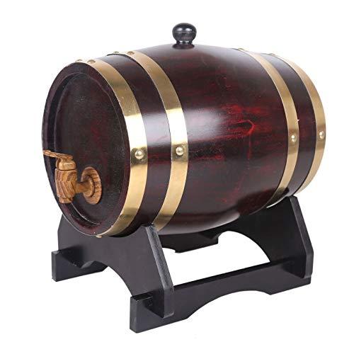 Betty Statuen Eichenfässer, Holzwein, Weißweinfässer, Wein, Zierfässer, Whisky, Bier, Wein, Bourbon, Brandy 3 Colours (Color : Retro, Size : 50L) -