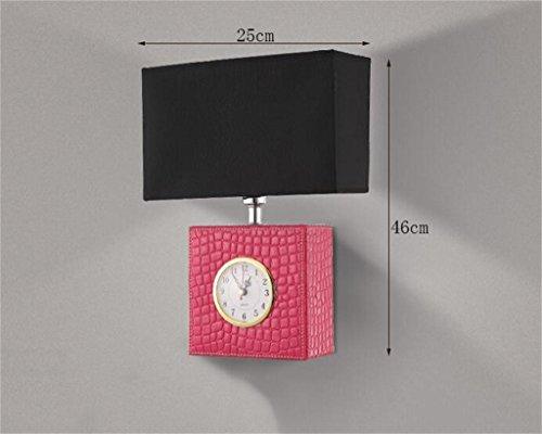 Basso lampada da parete consumo di energia --- vigilanza di cuoio lampada a LED minimalista salotto camera da letto comodino lampada da parete lampada da parete lampada da parete navata laterale americano (Lampadina non inclusa-1 di set) ( colore : Rosa )