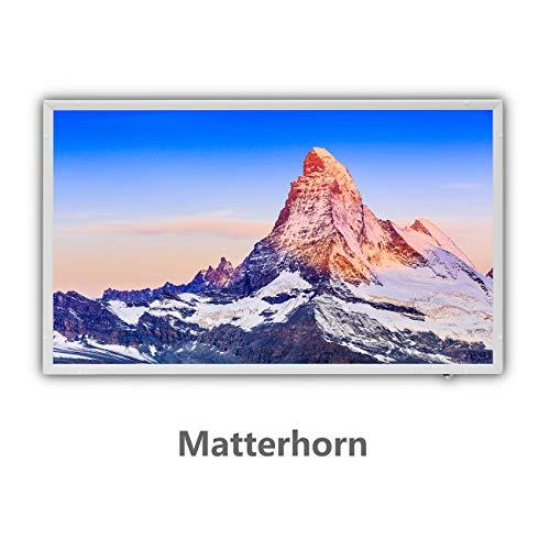 Protron Motiv Infrarotheizung Infrarot Panel Heizkörper Bild Elektroheizung Wandheizung 600Watt 600W 102x63cm (120322 Matterhorn)