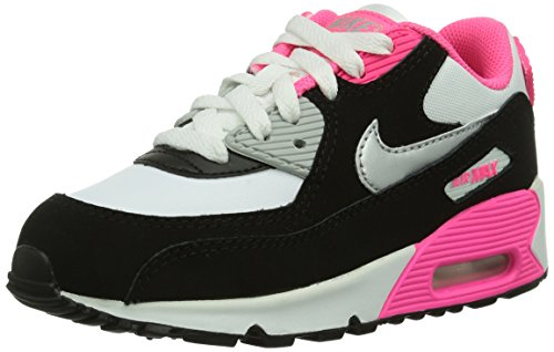 Nike - Sneaker Air Max 90 2007 PS, Unisex - bambino Nero (Schwarz (Schwarz / Pink))
