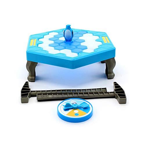 Pkjskh Pinguin Eisbrechendes Spielzeug Klopfen Eiswürfel zur Rettung Pinguin Spielzeug Kinder pädagogische Desktop Spielzeug Eltern-Kind-Interaktion Frühkindliche Lernspielzeug 3-6-10 Jahre alte Kinde