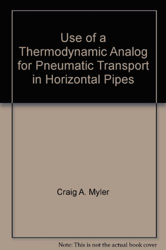 Use of a Thermodynamic Analog for Pneumatic Transport in Horizontal Pipes