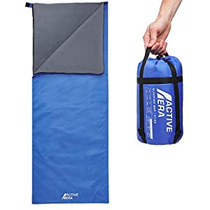 41AsdE7%2B%2BUL. SS300  - Active Era Ultralight Sleeping Bag – For Warm Weather, Summer Camping & Hiking - Water and Tear Resistant
