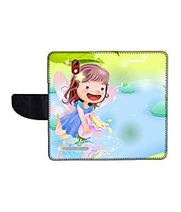 KolorEdge Printed Flip Cover For HTC Desire 500 Multicolor - (45KeMLogo09840HTC500)