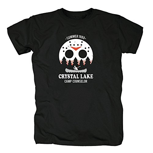 TShirt-People TSP Camp Crystal Lake T-Shirt Herren XXL Schwarz Camp Crystal Lake