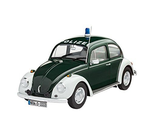 Revell Modellbausatz Auto 1:24 - Volkswagen VW Käfer Polizei 1968 (VW Beetle Police) im Maßstab 1:24, Level 4, originalgetreue Nachbildung mit vielen Details, 07035