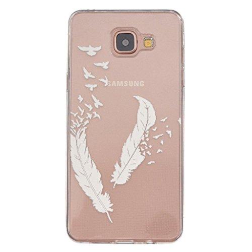 pour-galaxy-a5-2016-coque-ijia-transparent-blanc-plume-oiseau-ultra-mince-lisse-tpu-doux-silicone-bu