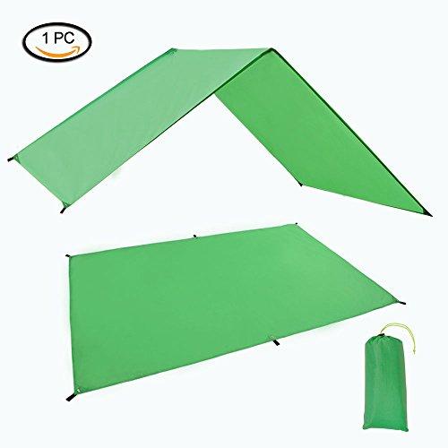 GEERTOP Waterproof Lightweight Tent Floor Footprint Tarp Rain Fly Sun Shelter Sunshade Mat and Ground Sheet for Outdoor Camping Backpacking Hiking Hammock (Green, 4ft7inx6ft11in)