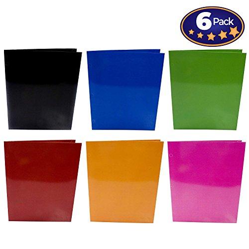 Buch SOX Premium 2Pocket laminiert Ordner 6Pack, je 3Loch Ordner Design passend zu aktuellen Buch Mustern. 12-1/2x 9-1/5,1cm, die Sie bequem in Standard-Schule Trapper Keeper oder Binder (- Designer-papier-fach-organizer)
