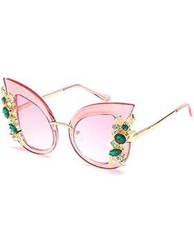 Inlefen Gafas de sol mujer ojo de gato Gafas de gran tamaño estilo con gafas de sol