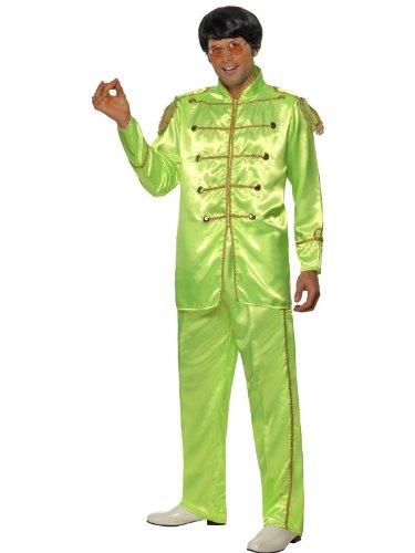 Smiffys Sergeant Pepper Beatles Kostüm 60er Jahre grün Hippie Gr. M