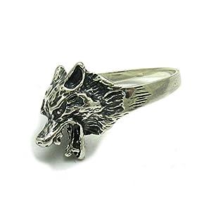 Sterling silber 925 Ring Wolf Empress Größe 49-75