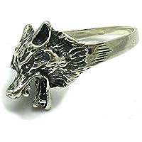 Sterling silber 925 Ring Wolf Empress Größe 49 - 75