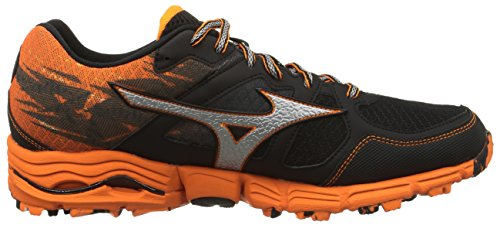 Mizuno Wave Kazan, Chaussures homme - Multicolore - Dressblue/Silver/Spectrayellow, 44.5 Multicolore - Black/Silver/Orange.Com