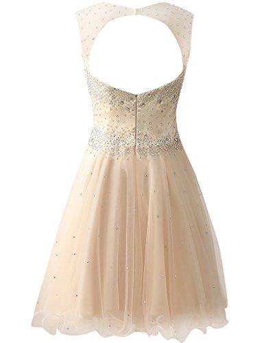 HUINI Damen Modern Kleid Rose