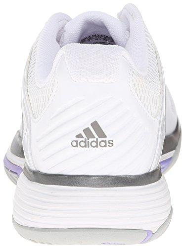 Adidas Barricade Team 4 Synthétique Chaussure de Tennis FtwWht-SilvMt-LtFlPu