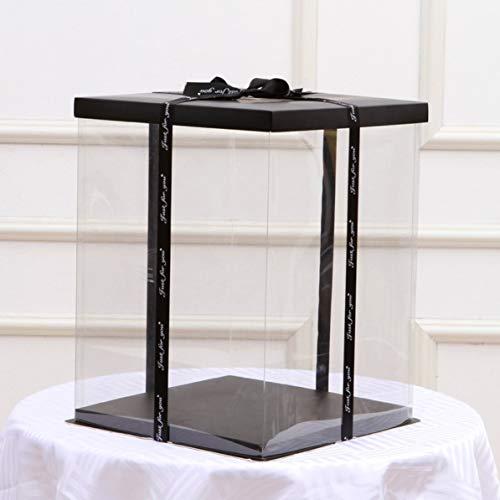 WEIWEITOE Transparent Leere Geschenkbox für Künstliche Teddybär Rose Blume Geschenke Box Frauen Plüsch Bär Kaninchen Geschenk, klar,