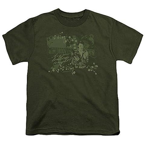 Elvis - Das 70er-Jahre-Jugend-T-Shirt in Military Grün, X-Large (18-20), Military Green