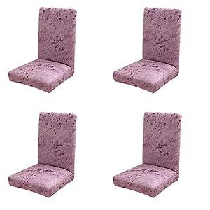 JUNGEN Rosa Stuhlhussen 4er Set Elastisch Stuhlüberzug Einfacher Stil Druck Stuhlabdeckung Dekoration für Schlafzimmer Esszimmer Hotel Wohnaccessoires