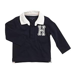 Tommy Hilfiger - Polo de Manga Larga Rugby, bebé niño, Color: Azul Marino, Talla: 6 Meses 9