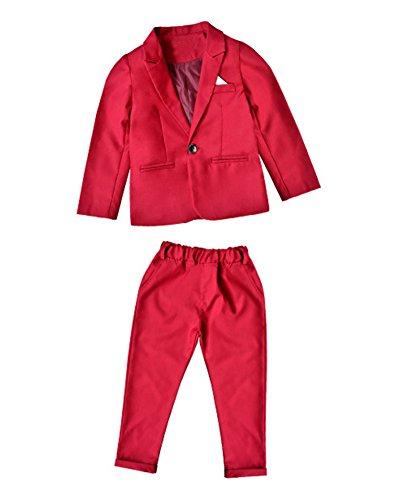 Jungen Hochzeit Anzug Page Boy Anzug Festlicher 2 Teiliger Jungen Anzug Jacke Blazer + Hosen Rose