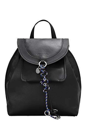 Liebeskind Berlin Damen Scouri Backpack Medium Rucksackhandtasche, Schwarz (Black) 13x27x23 cm