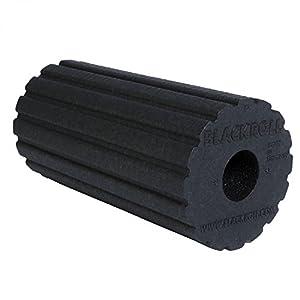BLACKROLL GROOVE Faszienrolle – das Original (Härtegrad mittel) – Selbstmassage-Rolle mit Vibrationseffekt für die Faszien in schwarz