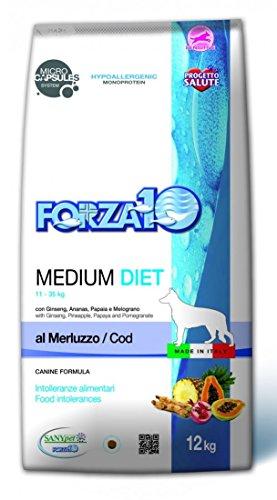 Forza 10 Medium Diet 12 kg Merluzzo crocchette cane Cibo Alimento Secco Completo