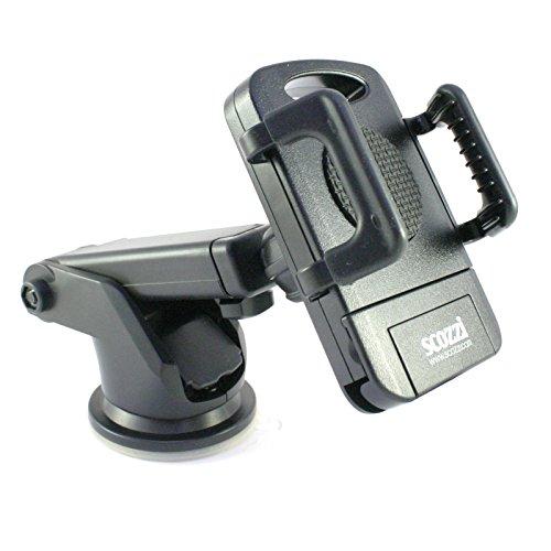 scozzi Armaturenbrett+Scheiben Halter für [Samsung Galaxy S10 S9 S8 S7 S6 S5 S4 S3 S2 S A9 A8 A7 A6 A5 A3 J8 J7 J6 J5 J4 J3 J2 J1 Note 9 8 7 6 5 4 3 2 G | Plus Edge Mini Prime Pro .] Auto Halterung