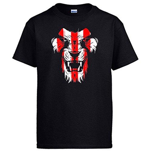 Camiseta Athletic león cara colores Bilbao - Negro, 3-4 años