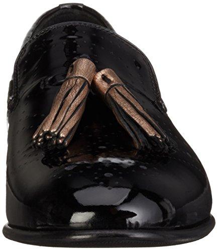 Melvin & Hamilton Mila 10, Mocassins Femme Noir - Schwarz (patent black/NAPPA Aztek Rose Gold/hRS)