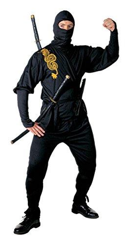 Widmann Ninja-Kostüm für Herren, Größe S 96/101,6 cm, für orientalische chinesische Kostüme
