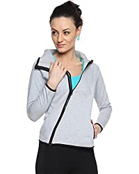 Campus Sutra Cotton Womens iped Jacket with High Rise Collar (AW15_ZHCRZ_W_PLN_GR_XL_Grey_X-Large)