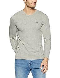 Monte Carlo Mens Solid Regular Fit T-Shirt (217039918-3_Grey_44)