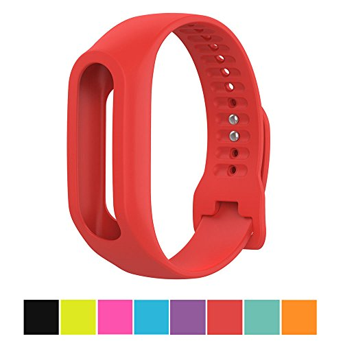 Cyeeson TomTom Touch Replacement Armband Weiche Silikon dustable Band Gel Wristband Strap Watch Band für TomTom Touch